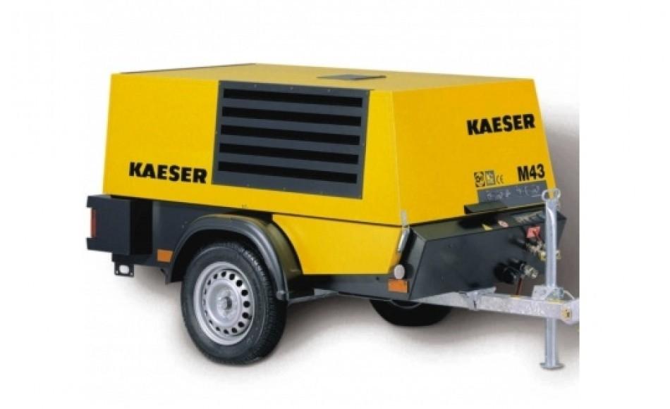 Kaeser M43 transportabel kompressor med borhammer, borer og komplett tilbehør
