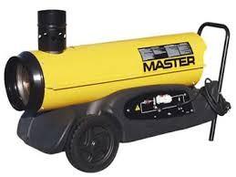 Master 230V, 1-fas dieselfyrte varmluftsaggregat med varmeveksler.